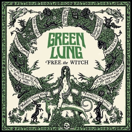 Image of GREEN LUNG - Free The Witch. Forest Green Vinyl.