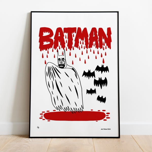 Image of VAMPIRE BATMAN A2 Screen Print