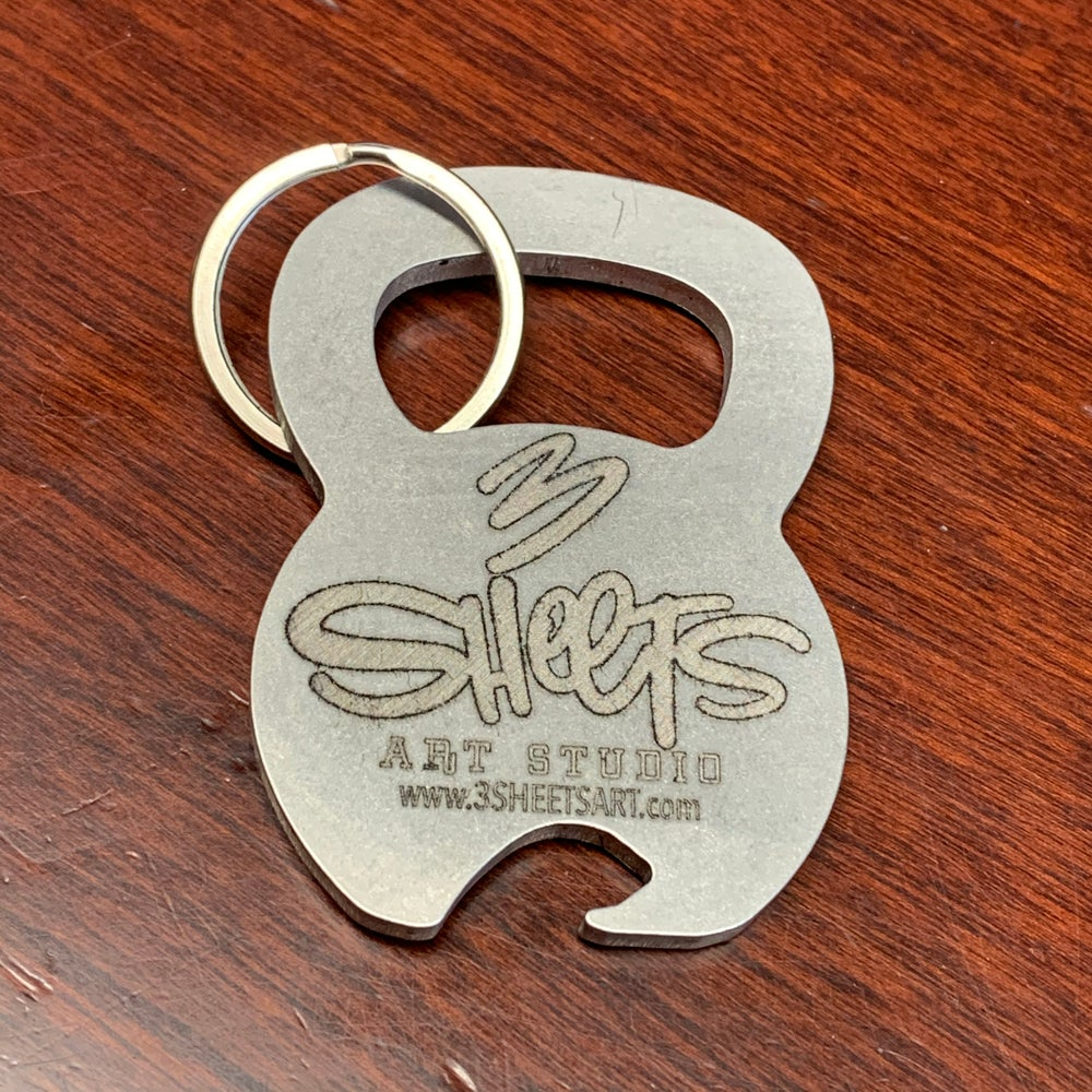 3 Sheets KB Bottle Opener Keychain