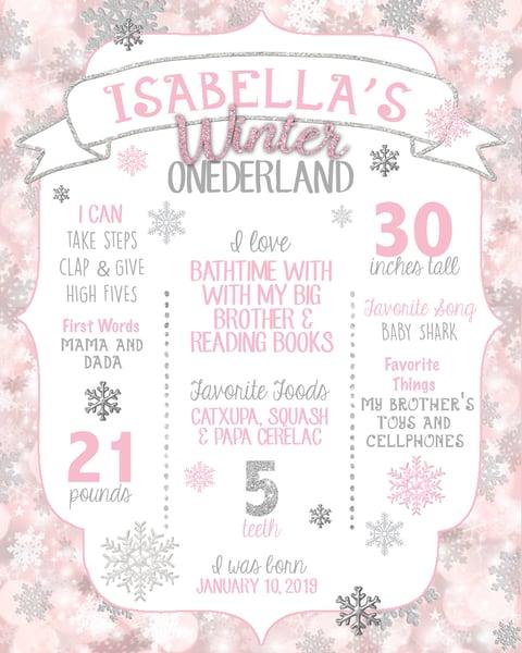 Image of Winter Onederland Birthday Board