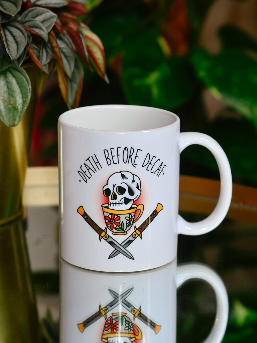 Image of Mug Death Before Decaf II