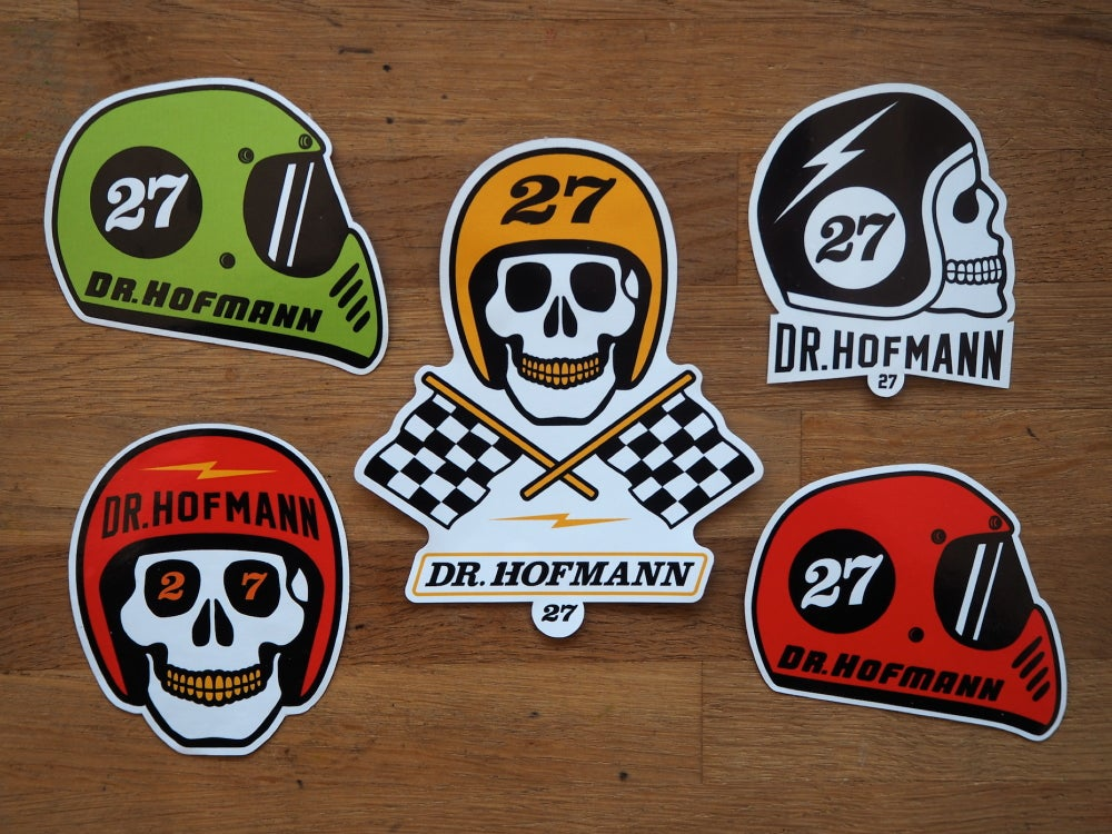 "Image of ""Sticker HELMETS PACK"" - 5 units"