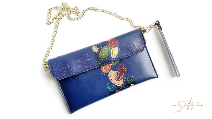 "Image of ""Falling For You"" Navy Clutch"