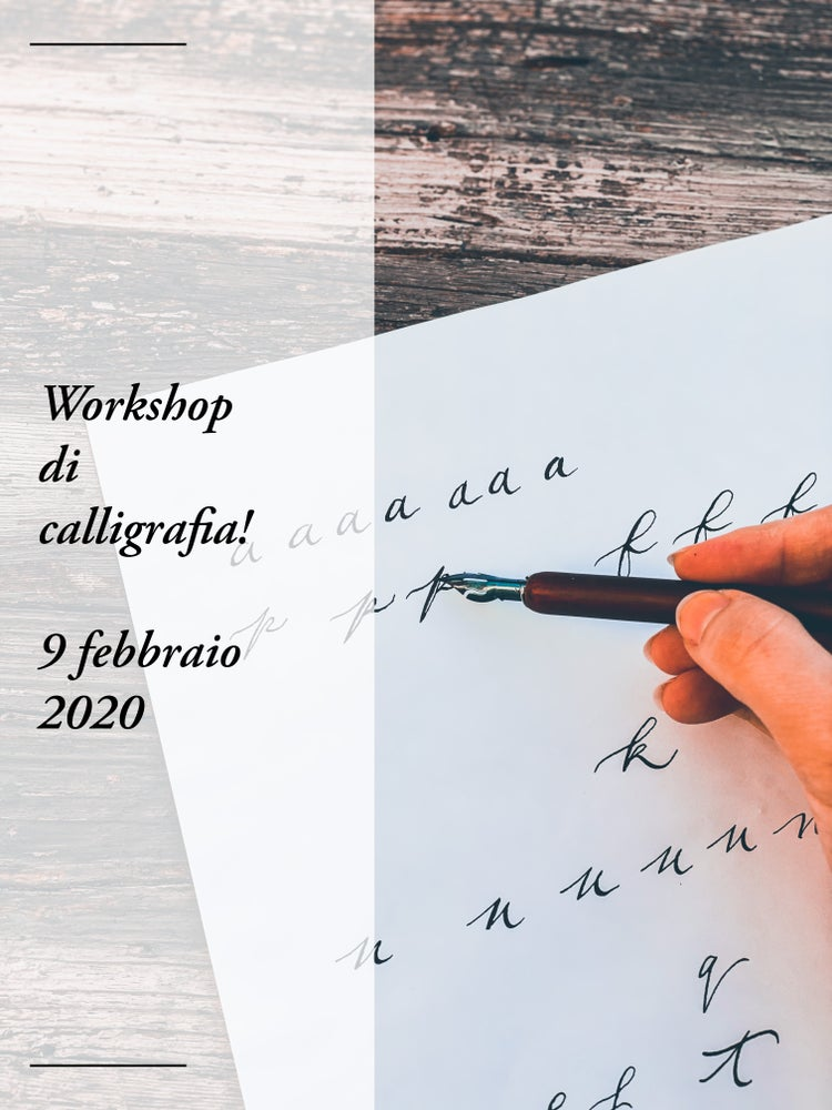 Image of Workshop di calligrafia con pennino !