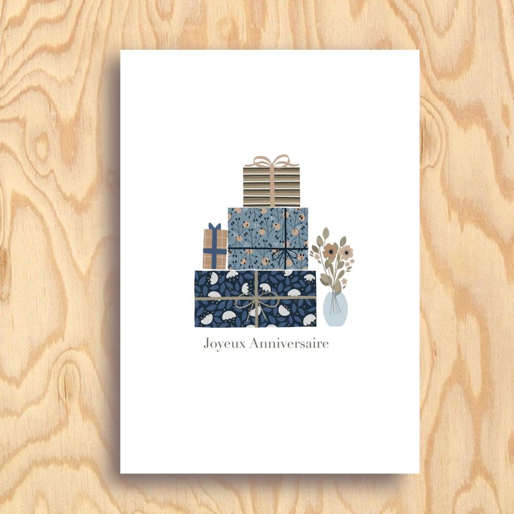 Image of Carte Joyeux Anniversaire bleu