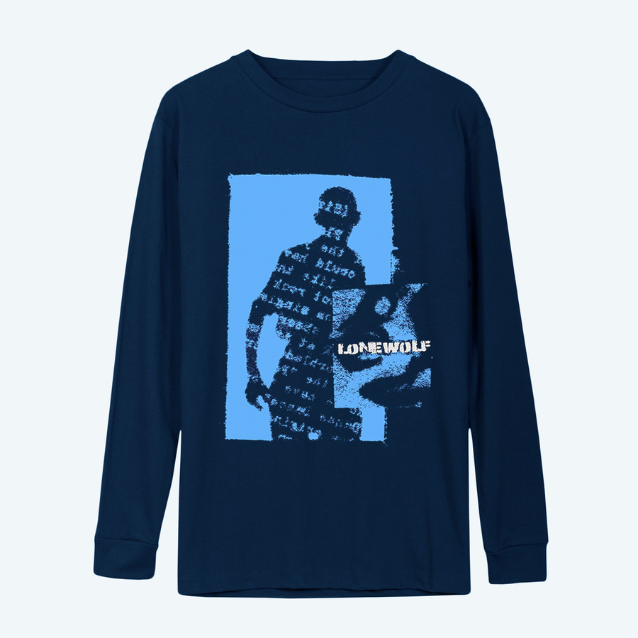 Image of Shadows Long Sleeve in Dark Blue