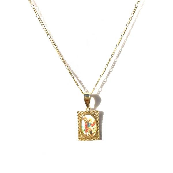 Image of Saint Michael Necklace