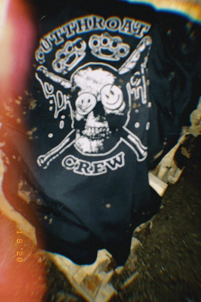 """Image of Bleach-dyed """"Cutthroat Crew"""" T-Shirt"""