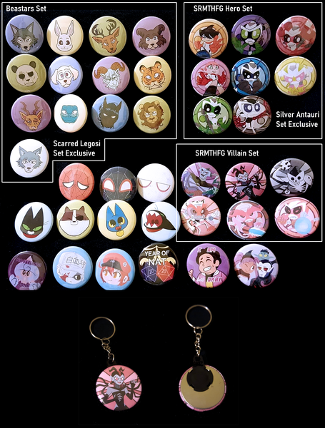 Image of 1.5 inch Buttons or Keychains