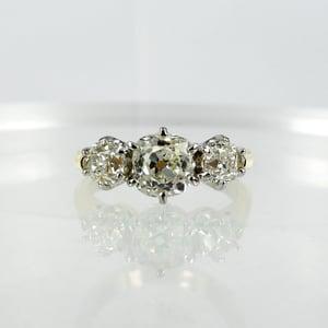 Image of pj5723 Old cut diamond trilogy ring.