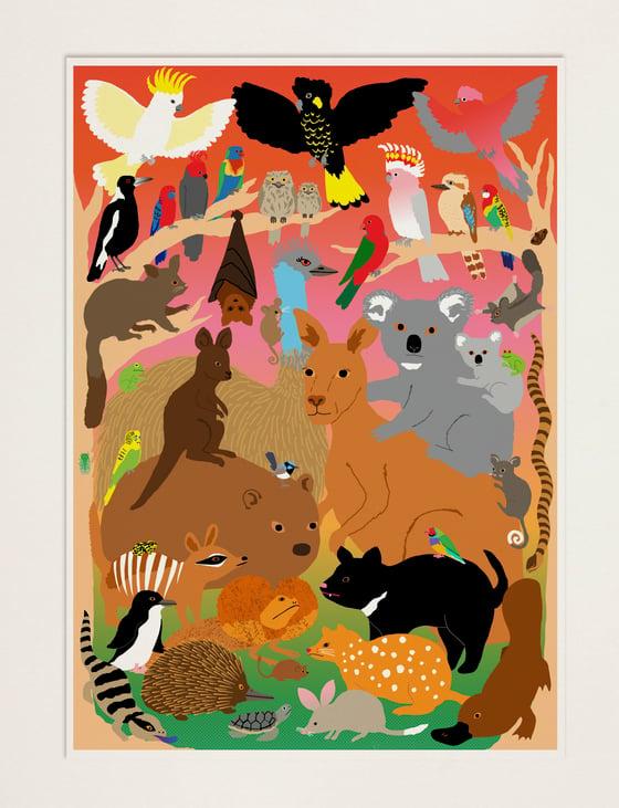 Image of Australian Fauna - bushfire relief poster