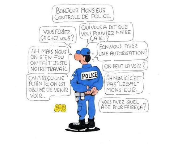 Image of Controle de police