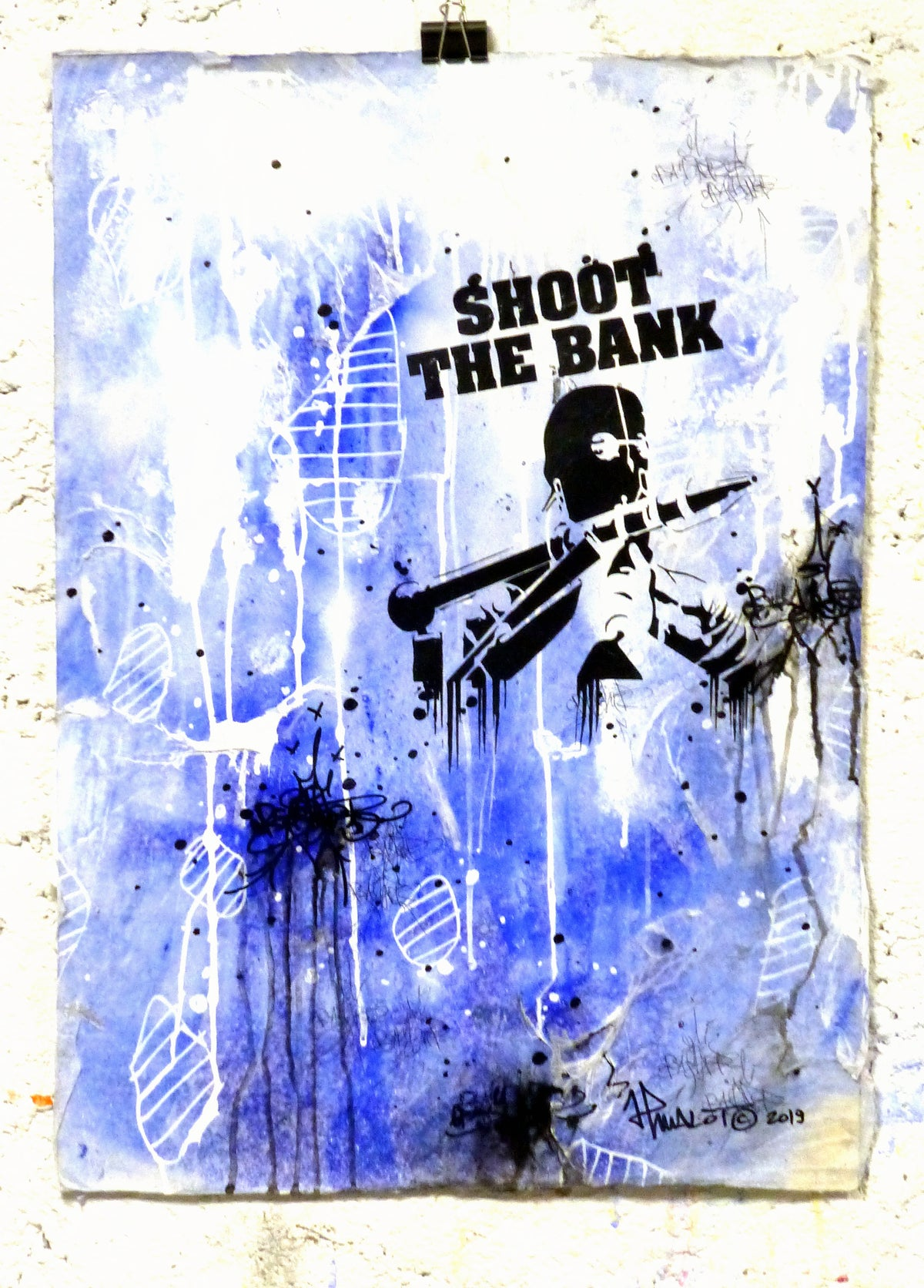 Image of SHOOT THE BANK! On Blue. 2020