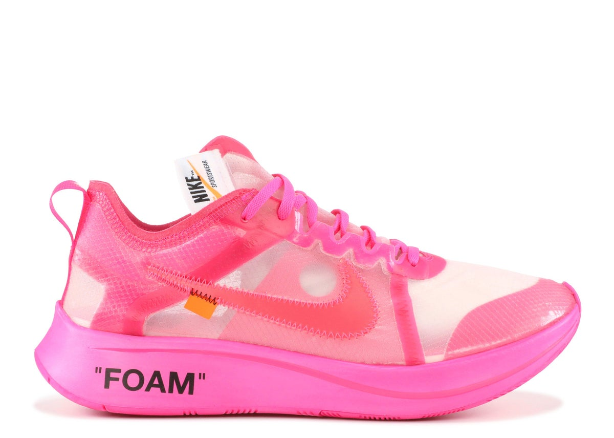"Image of THE 10: NIKE ZOOM FLY ""OFF WHITE"" Pink"