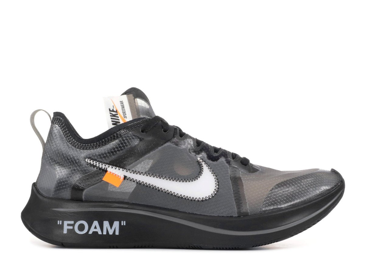 "Image of THE 10: NIKE ZOOM FLY ""OFF WHITE"" Black"