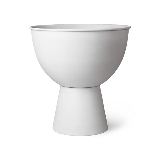 Image of White metal plant pot large