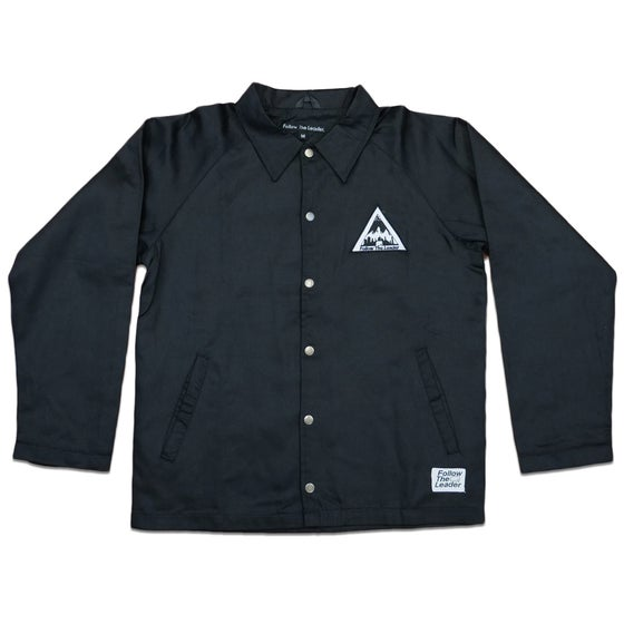 Image of NYC Scape Cotton Canvas Jacket (Black)