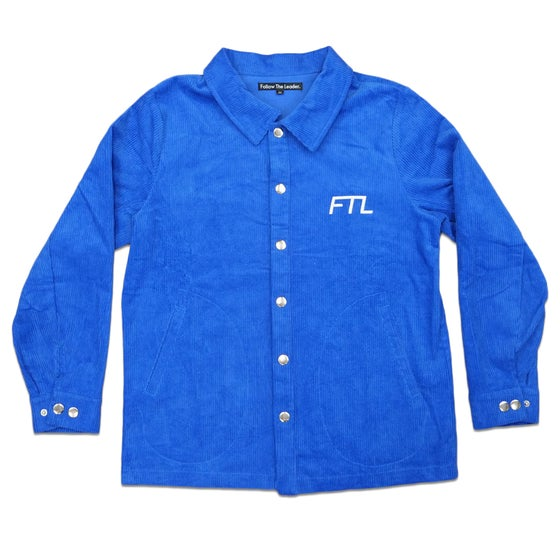 Image of FTL Corduroy Overshirt (Royal Blue)