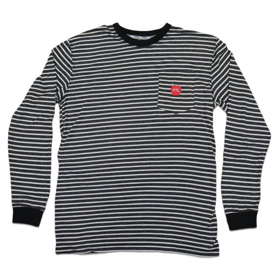 Image of Big Apple Striped Long Sleeve Pocket Shirt