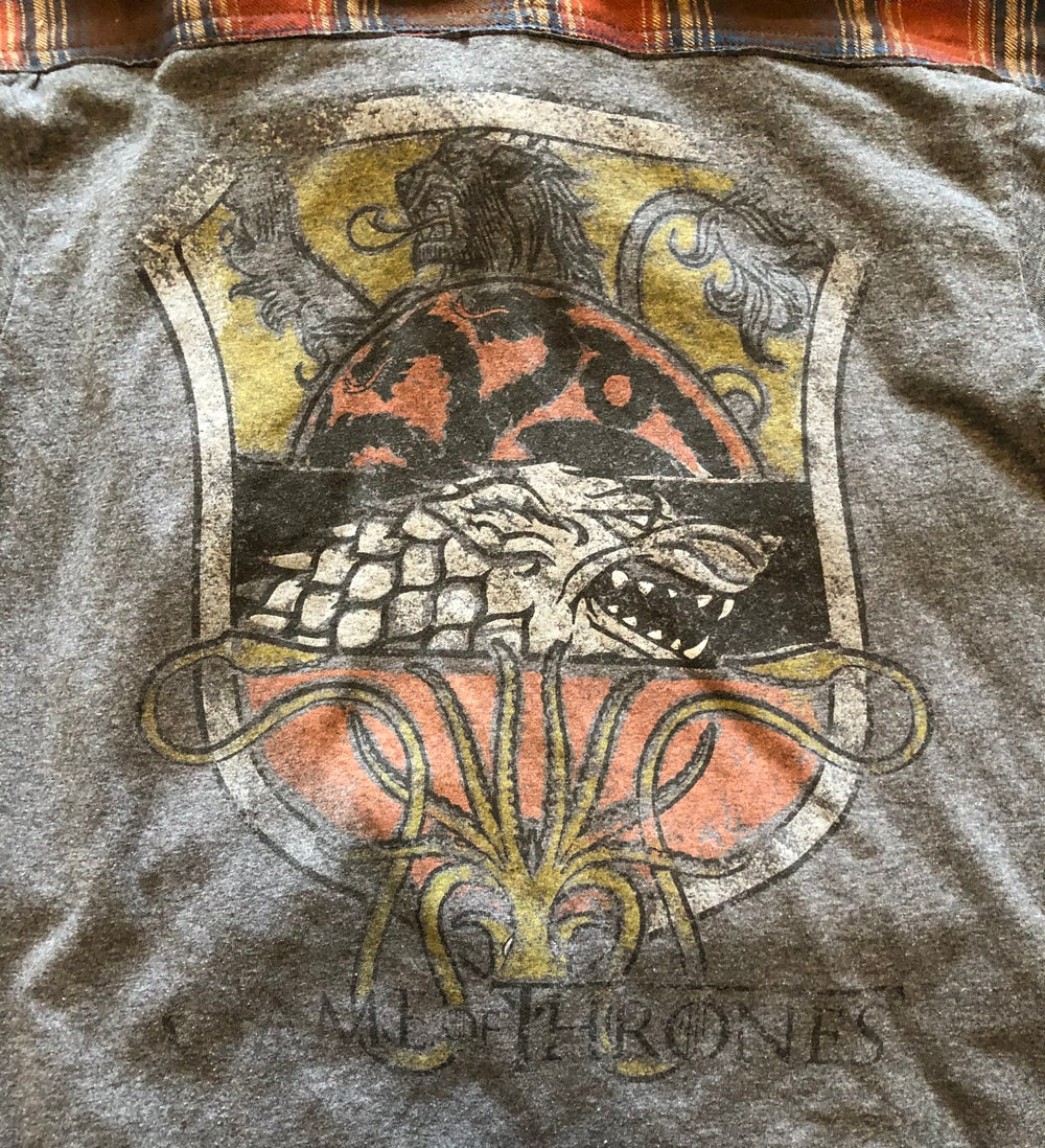 Game of Thrones repurposed t-shirt flannel