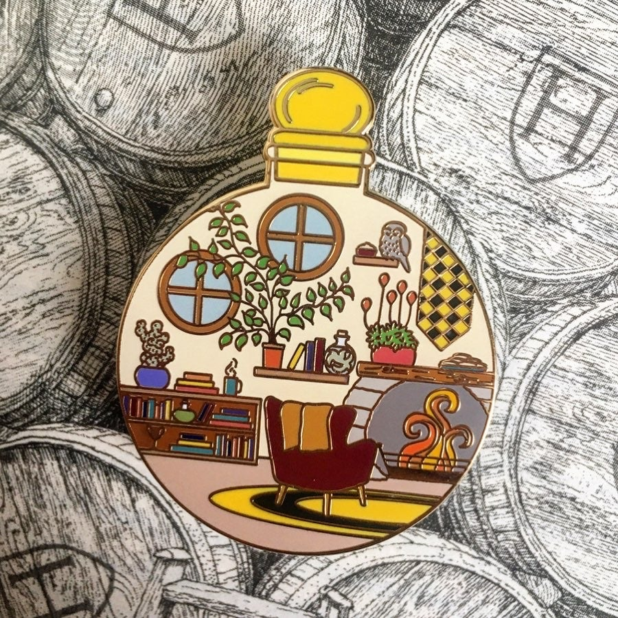 Image of Loyal Common Room in a Bottle Pin