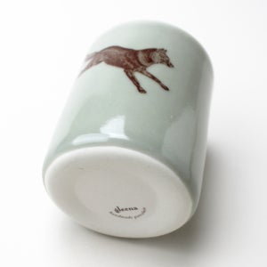 Image of 10oz tumbler with wolf,  sage