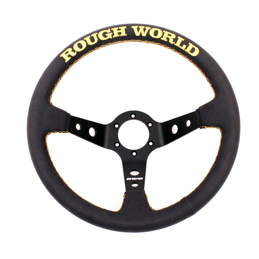 Image of Alcantara Suede Rough World Gold V3 Steering Wheel