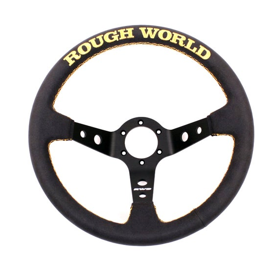 Image of Alcantara Suede Rough World Gold V3 Steering Wheel