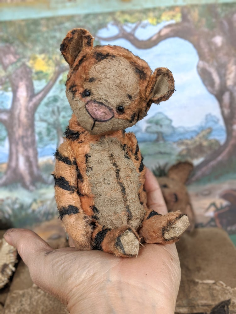 "Image of New design....6"" classic vintage style Tigger toy tiger by whendis bears"