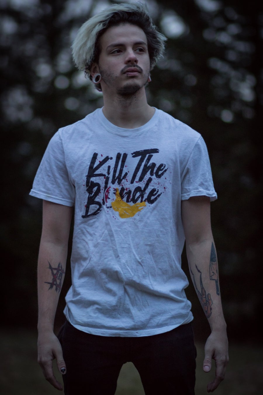 Image of Kill The Blonde white shirt