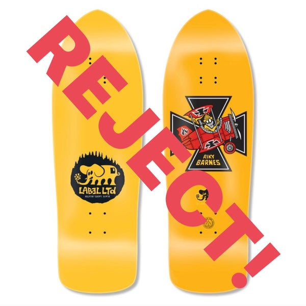 """Image of (Reject) Riky """"Red Baron"""" (Yellow Dip) deck"""