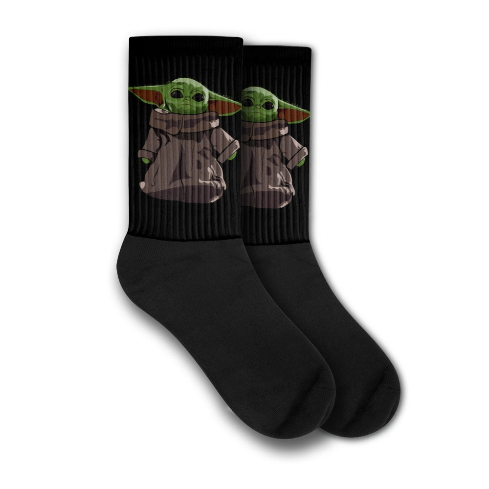 Image of Baby Yoda Socks Standing