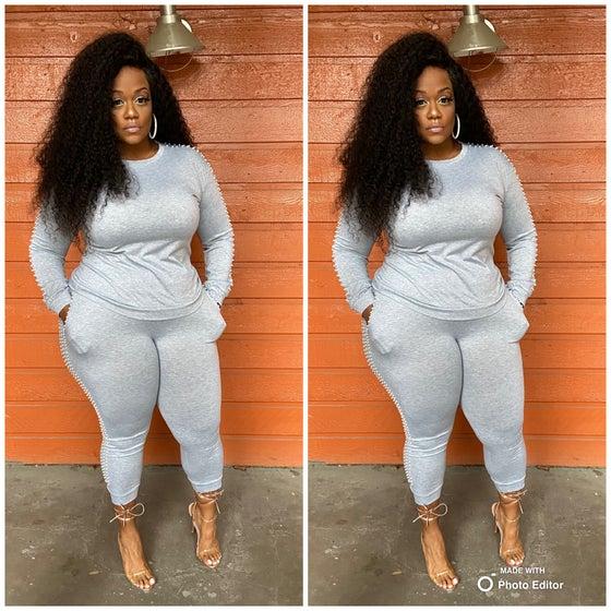 Image of Grey Pearl Sweatsuit
