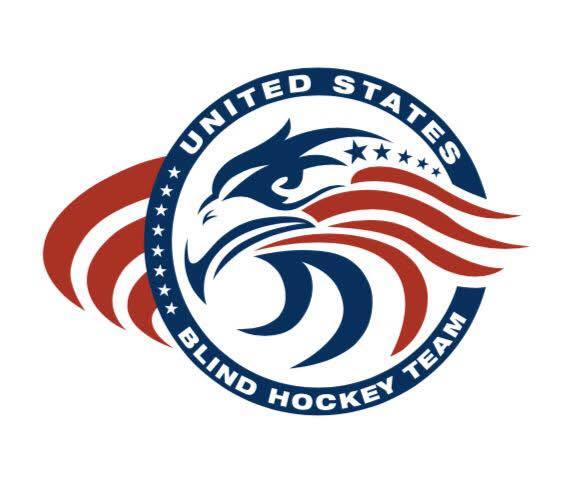 Image of USA Blind Hockey cotton t-shirt