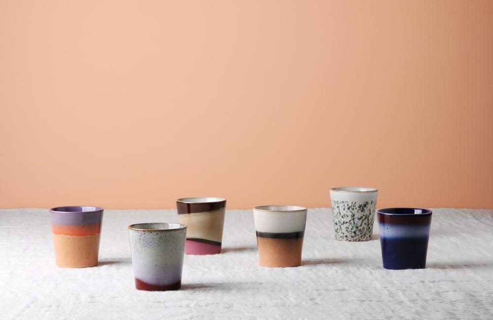 Image of 70s style mugs - set o 6