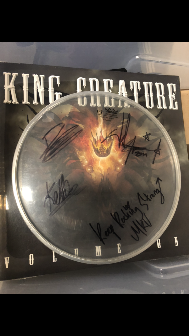 Image of SMALL SIGNED USED TOUR DRUM SKIN