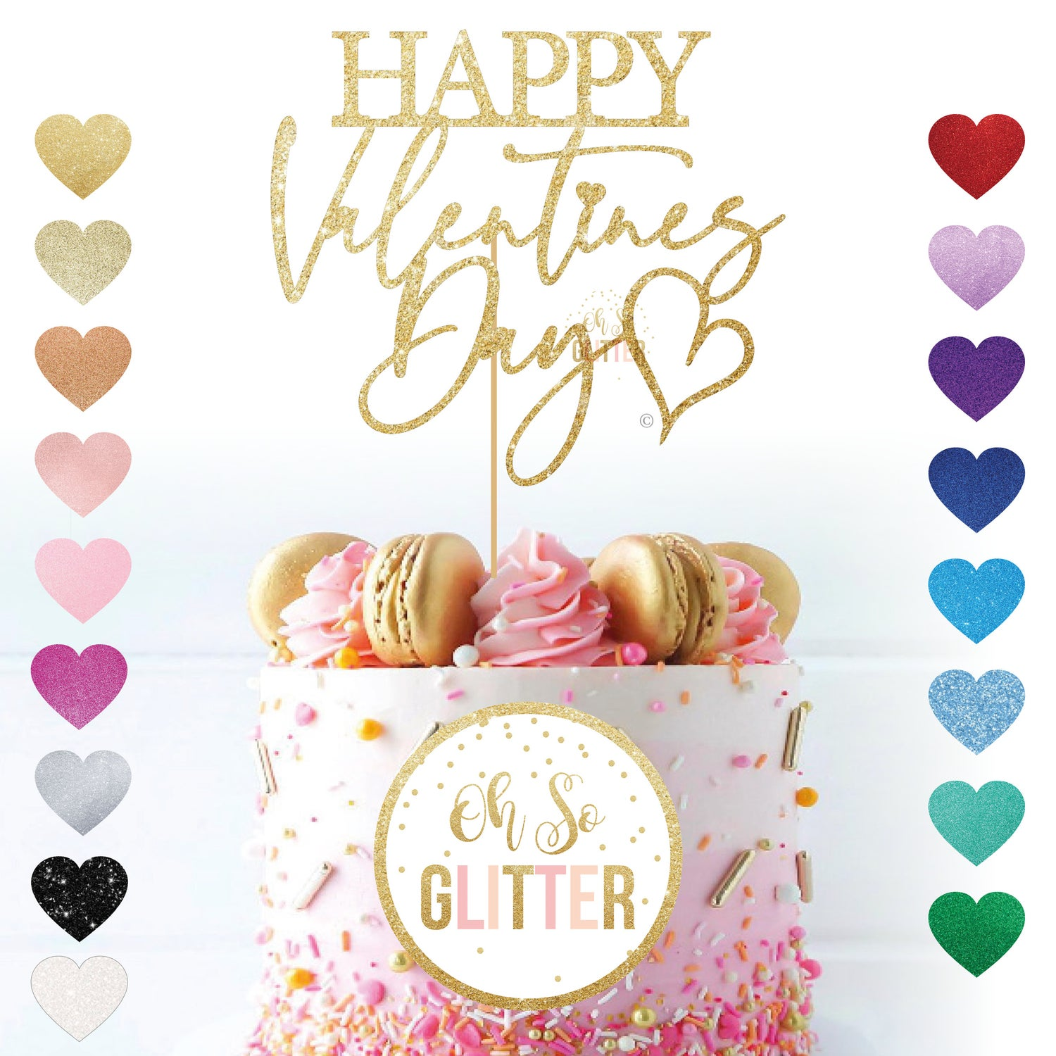 Image of Happy Valentines Day Cake Topper