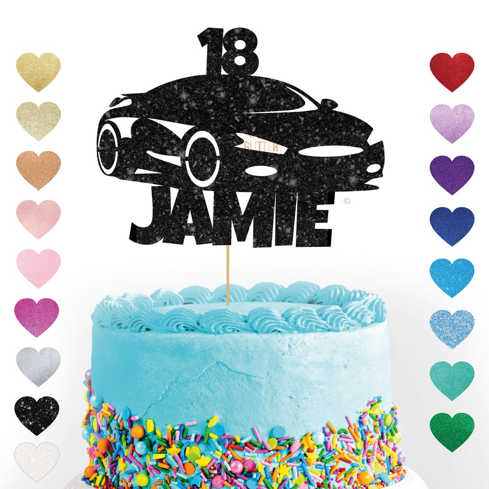 Image of Sports Car customised Cake Topper