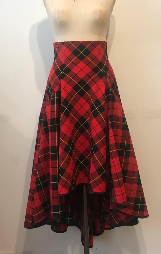 Image of Tartan waterfall skirt