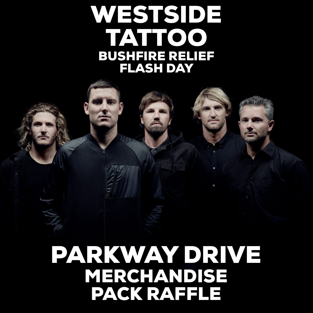 Image of PARKWAY DRIVE MERCHANDISE PACK RAFFLE TICKETS