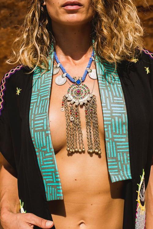 Image of Black Weaves Kimono