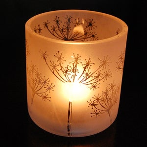 Image of Cow parsley tealight holder