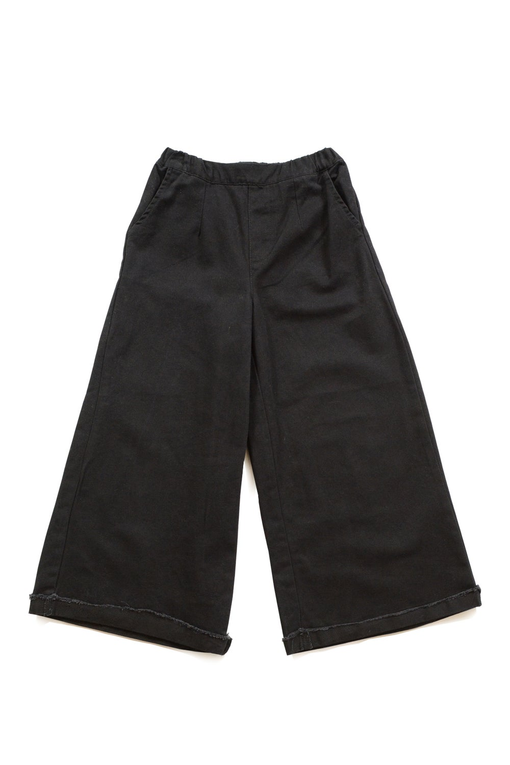 Kids Black Wide Pants