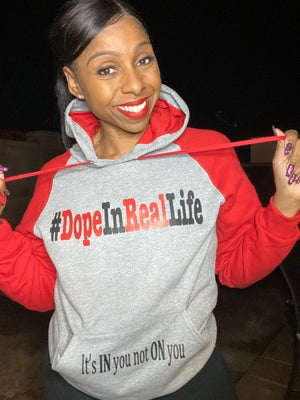 Image of Two Tone #DopeInRealLife Hoodies and Sweats