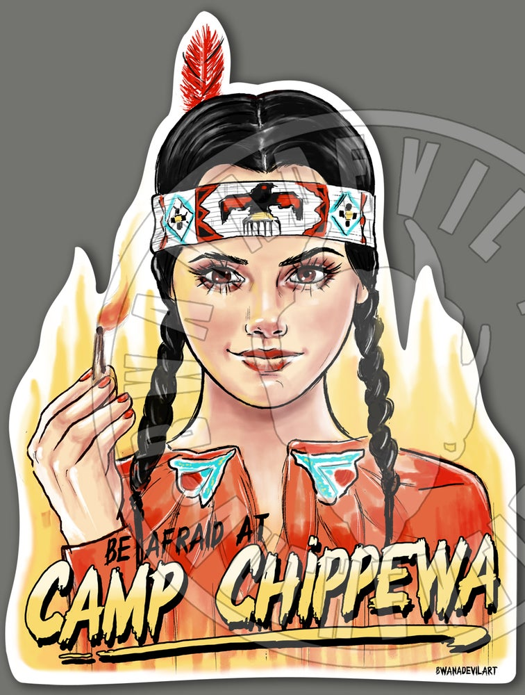 Image of Wednesday Addams (Camp Chippewa) Vinyl Sticker