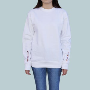 Gold Bar Sleeve Symbol Sweatshirt