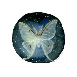 Image of Luna Moth - 9 x 9 inch Glow-in-the-Dark Archival Inkjet (Giclée) Print