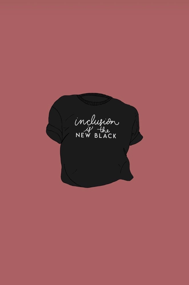 """Image of """"Inclusion is the new black"""" kids tee"""