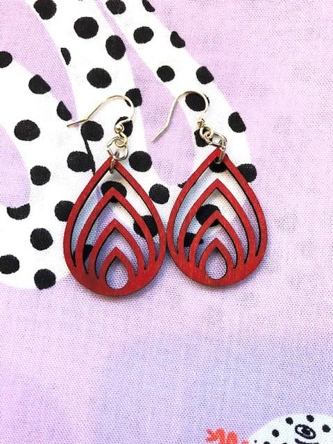 Image of Layered Drop Earrings