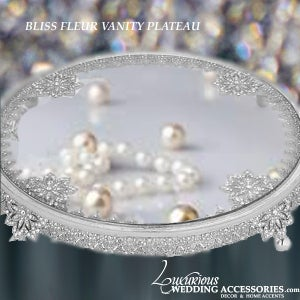 Image of Bliss Fleur Round Vanity Tray Plateau